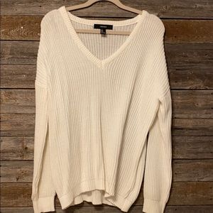 Off white forever 21 knit sweater